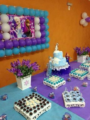 ideias decoracao festa frozen 14