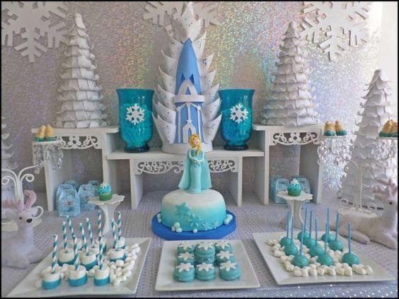 ideias decoracao festa frozen 15