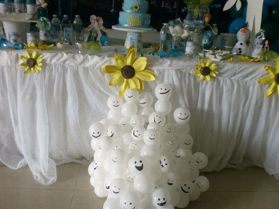 ideias decoracao festa frozen