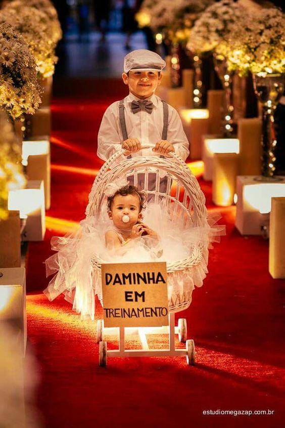 ideias giras entrada pagens daminhas casamento 1