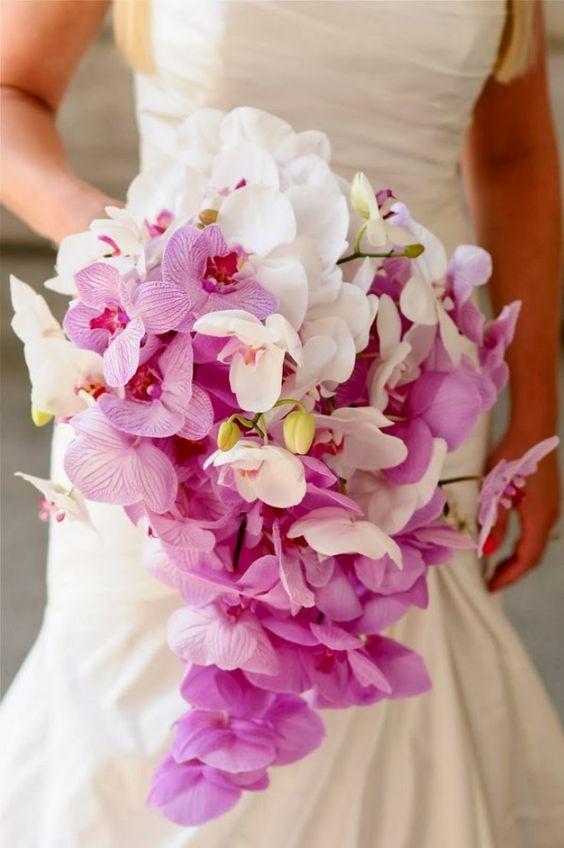 ideias ramos noiva orquideas cascata Cópia