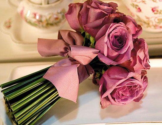 ideias ramos noiva rosas