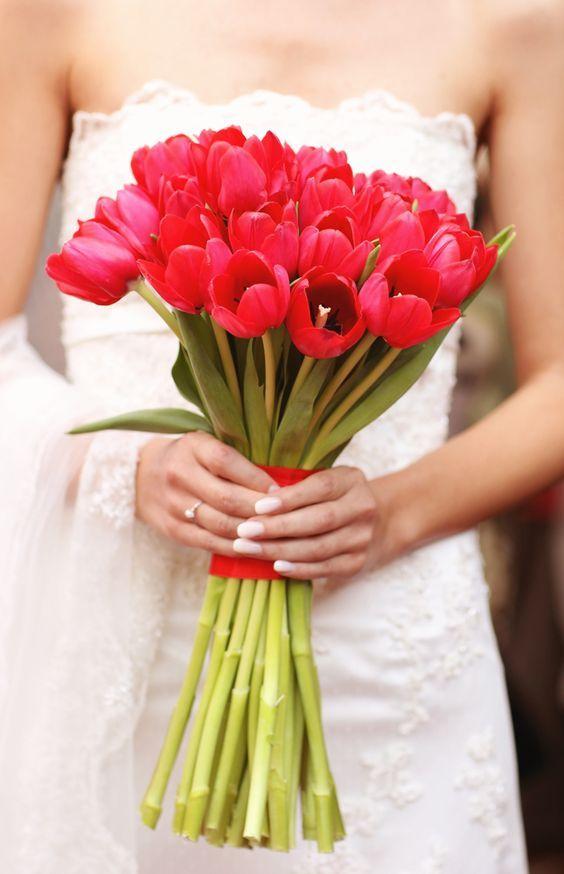 ideias ramos noiva tulipas