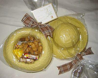ideias servir doces festa junina chapeu