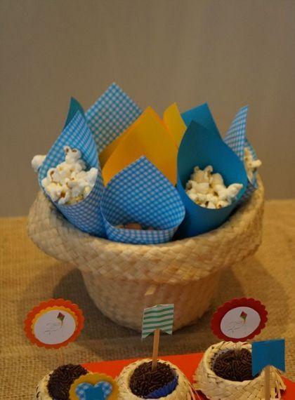 ideias servir doces festa junina cones