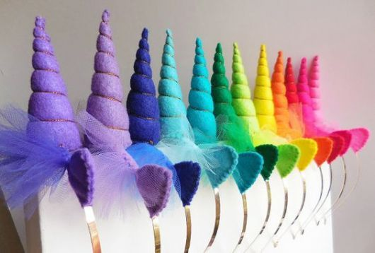 ideias tiaras unicornio