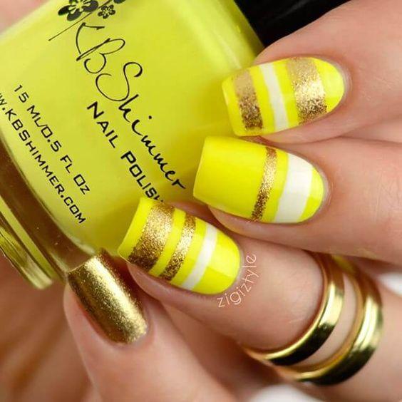 ideias unhas amarelas