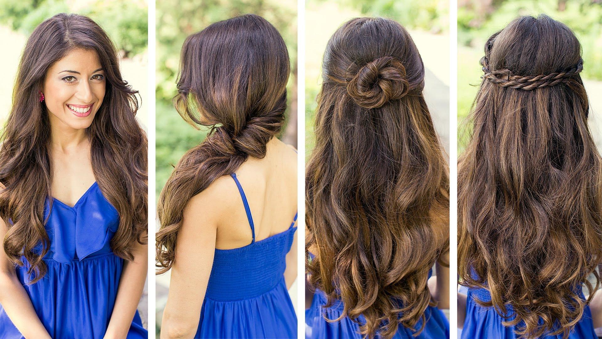 lindo penteado simples