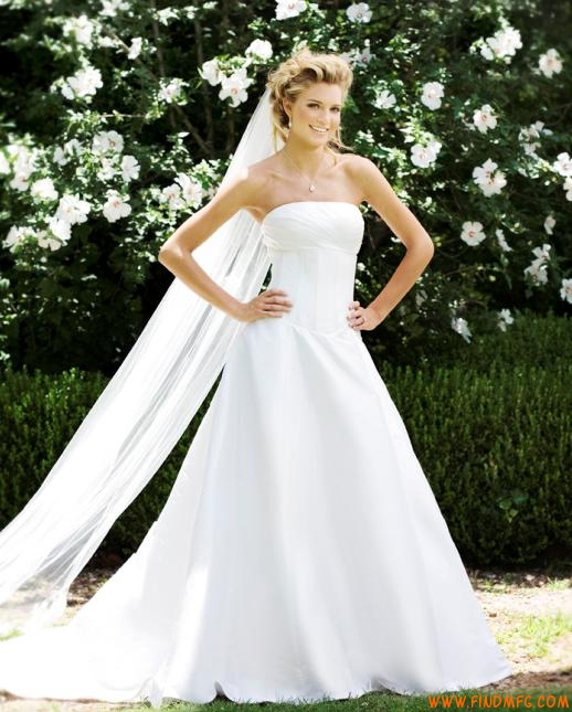 lindo vestido de noiva tomara que caia