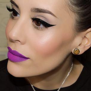 maquiagem baton roxo 2