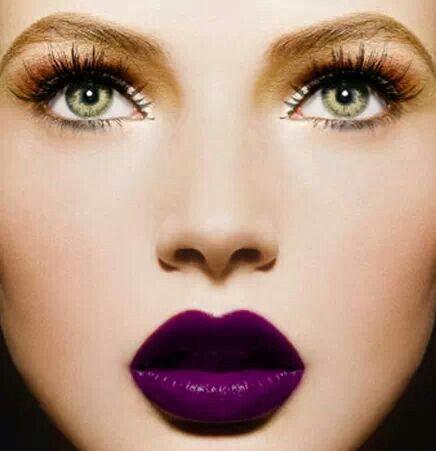 maquiagem baton roxo 4