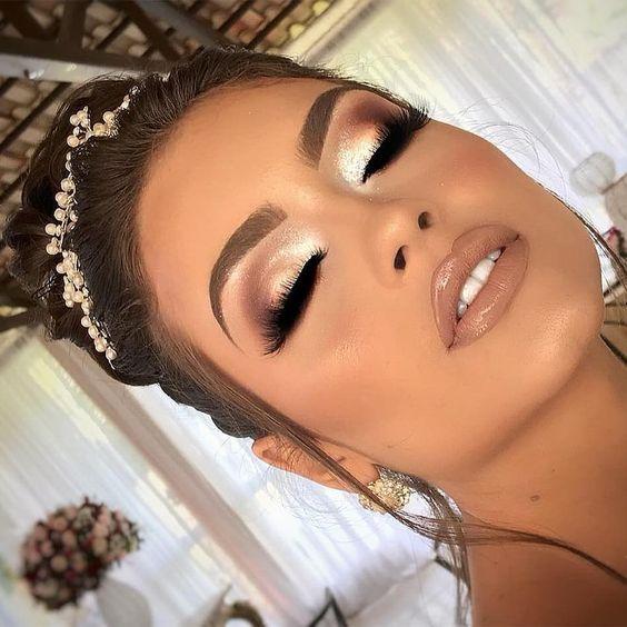maquiagem dourada noiva