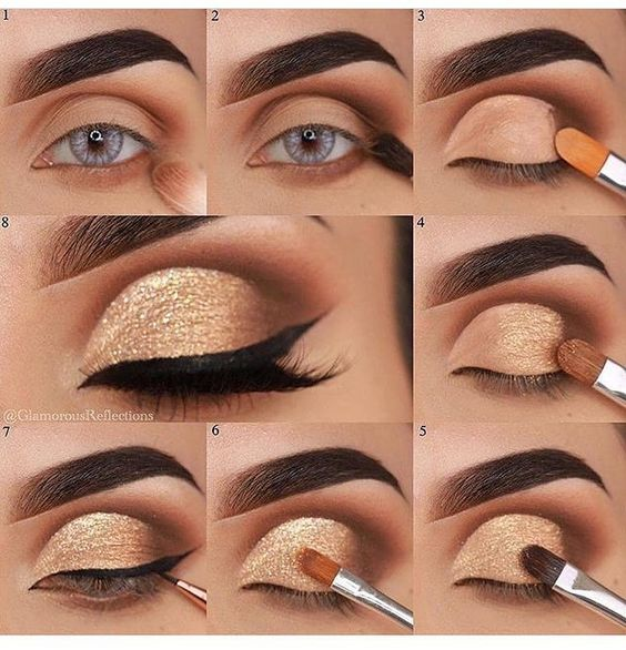 maquiagem dourada passo passo 1