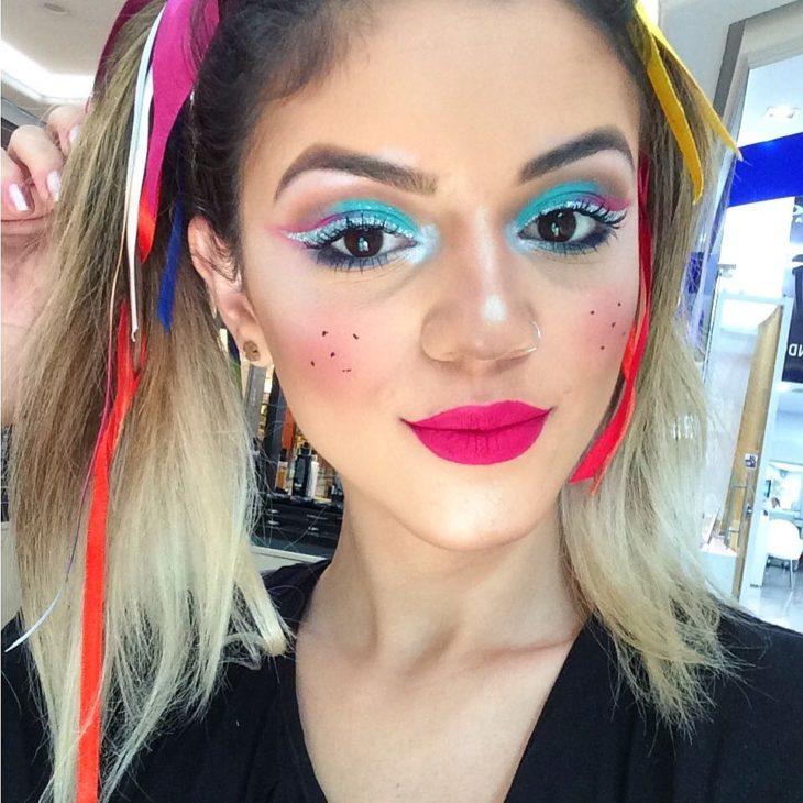 maquiagem festa junina adulto colorido
