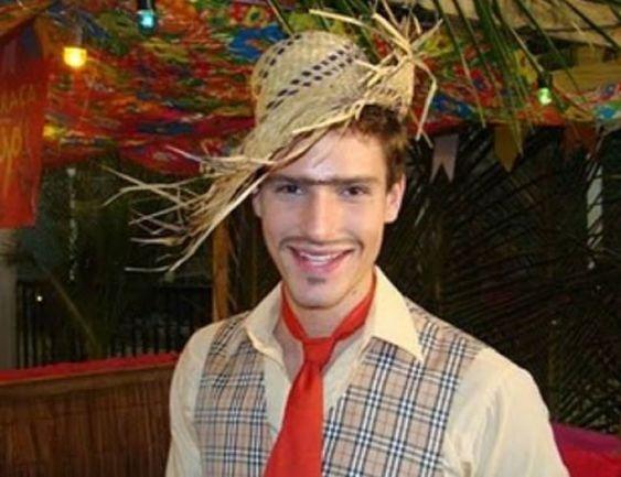 maquiagem festa junina homem noivo