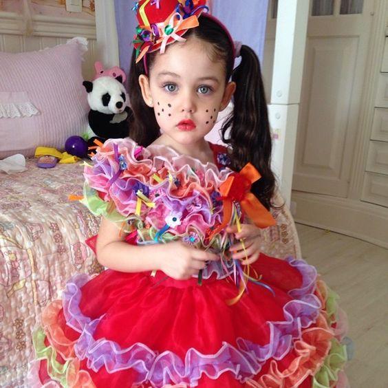 maquiagem festa junina menina