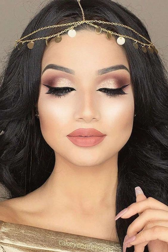 maquiagem olhos dourado