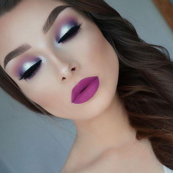 maquiagem perfeita roxa