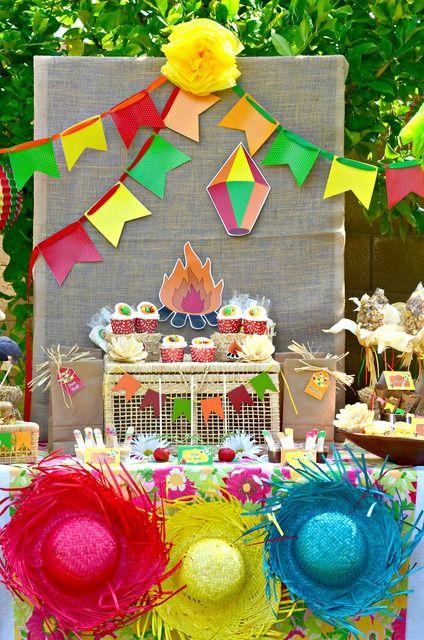mesa decorada festa junina ideias diferentes