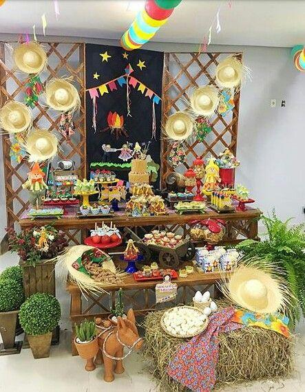 mesa doces festa junina ideia