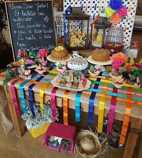 mesa doces festa junina