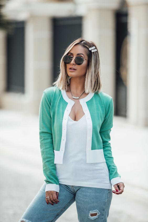 moda casaquinhos curtos malha