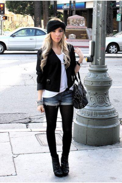 moda casaquinhos curtos preto