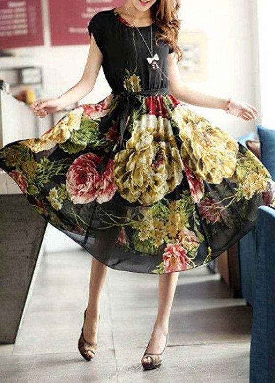 moda vestidos floridos 1