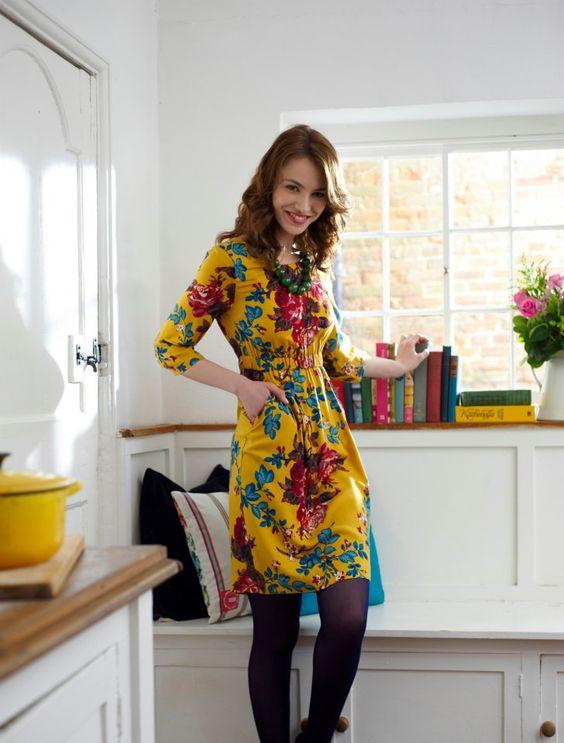 moda vestidos floridos 2