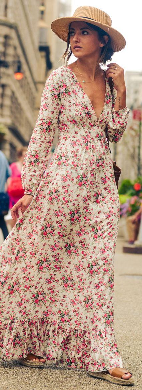 moda vestidos floridos