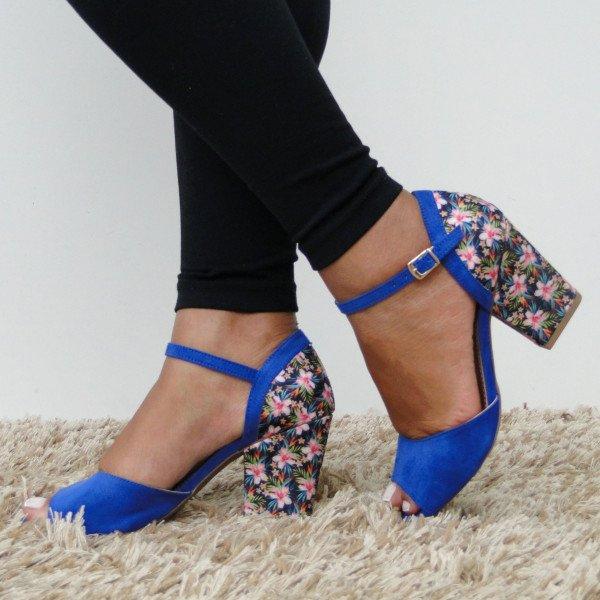 modelo sapato salto floral 1