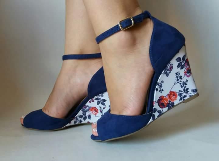 modelo sapato salto floral 4