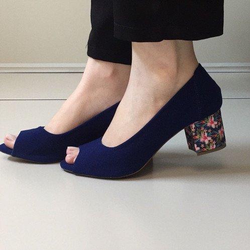 modelo sapato salto floral 6