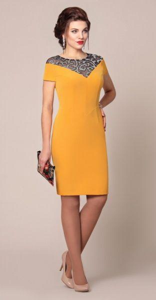 modelo vestido amarelo casual 1