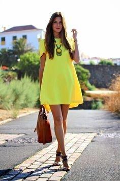 modelo vestido amarelo casual 2