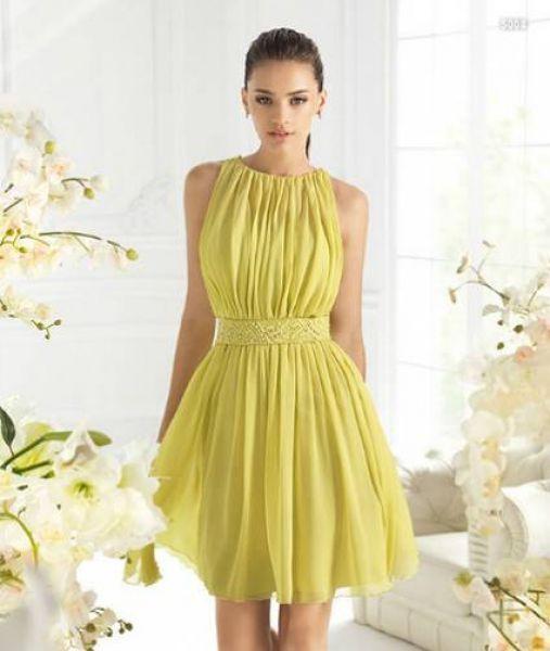 modelo vestido amarelo curto 1