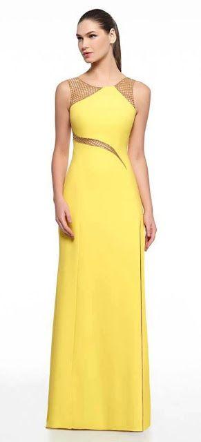 modelo vestido amarelo festa 1