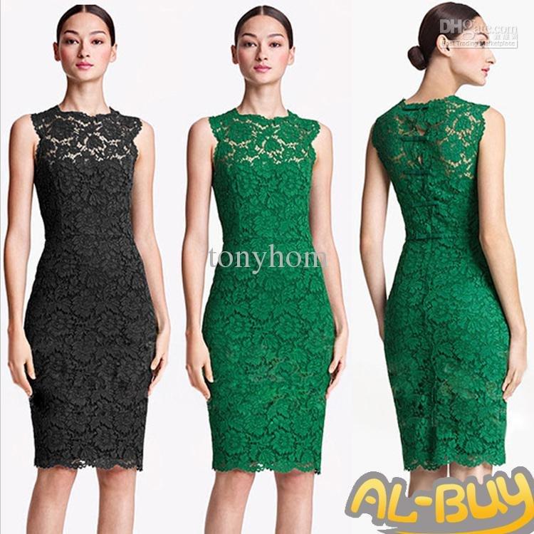 modelo vestido de renda