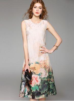 modelo vetido seda florido