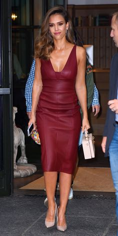 modelos moda dicas vestidos couro 3