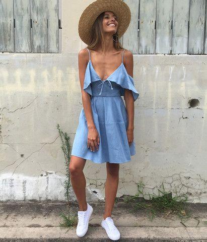 modelos outfits vestidos jeans 2