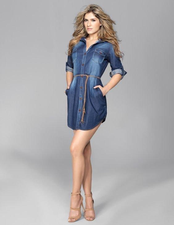 modelos outfits vestidos jeans 5