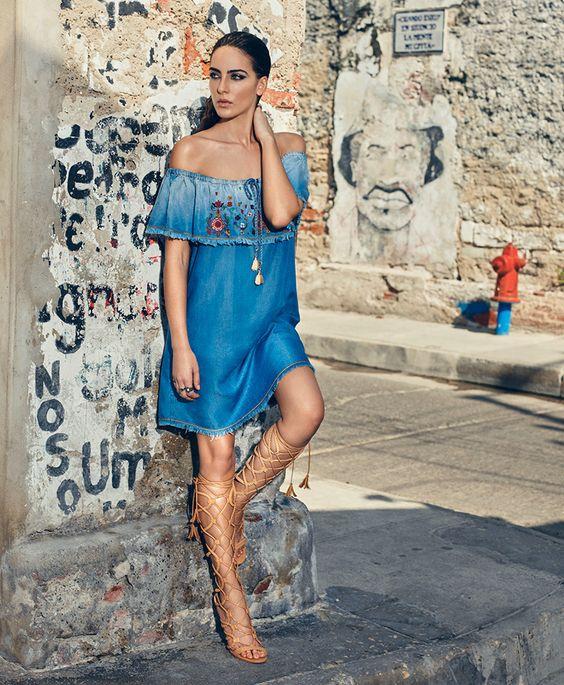 modelos outfits vestidos jeans 8