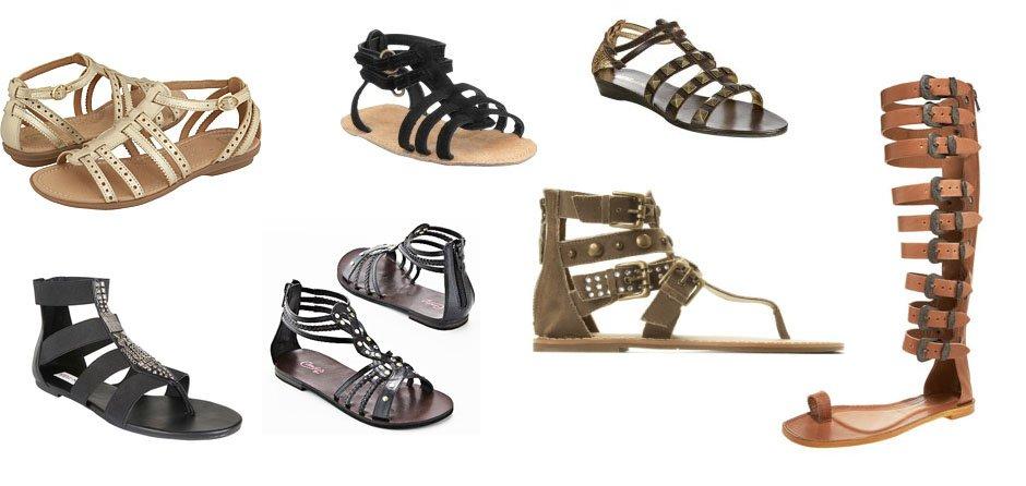 modelos sandalias gladiadoras