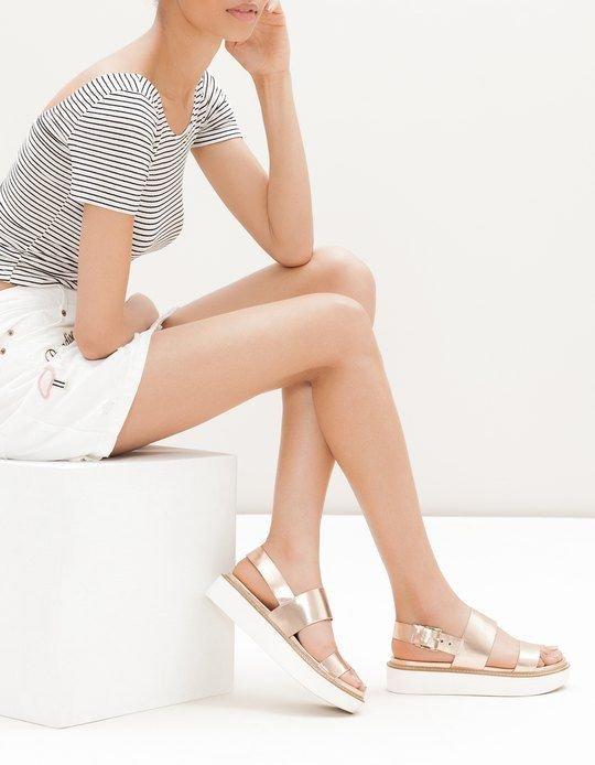 modelos sandalias metalizadas