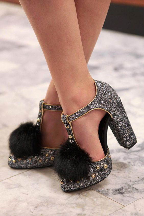 modelos sapatos glitter