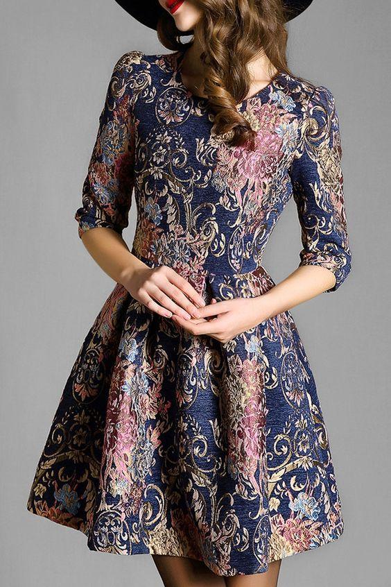 modelos vestido retro 13