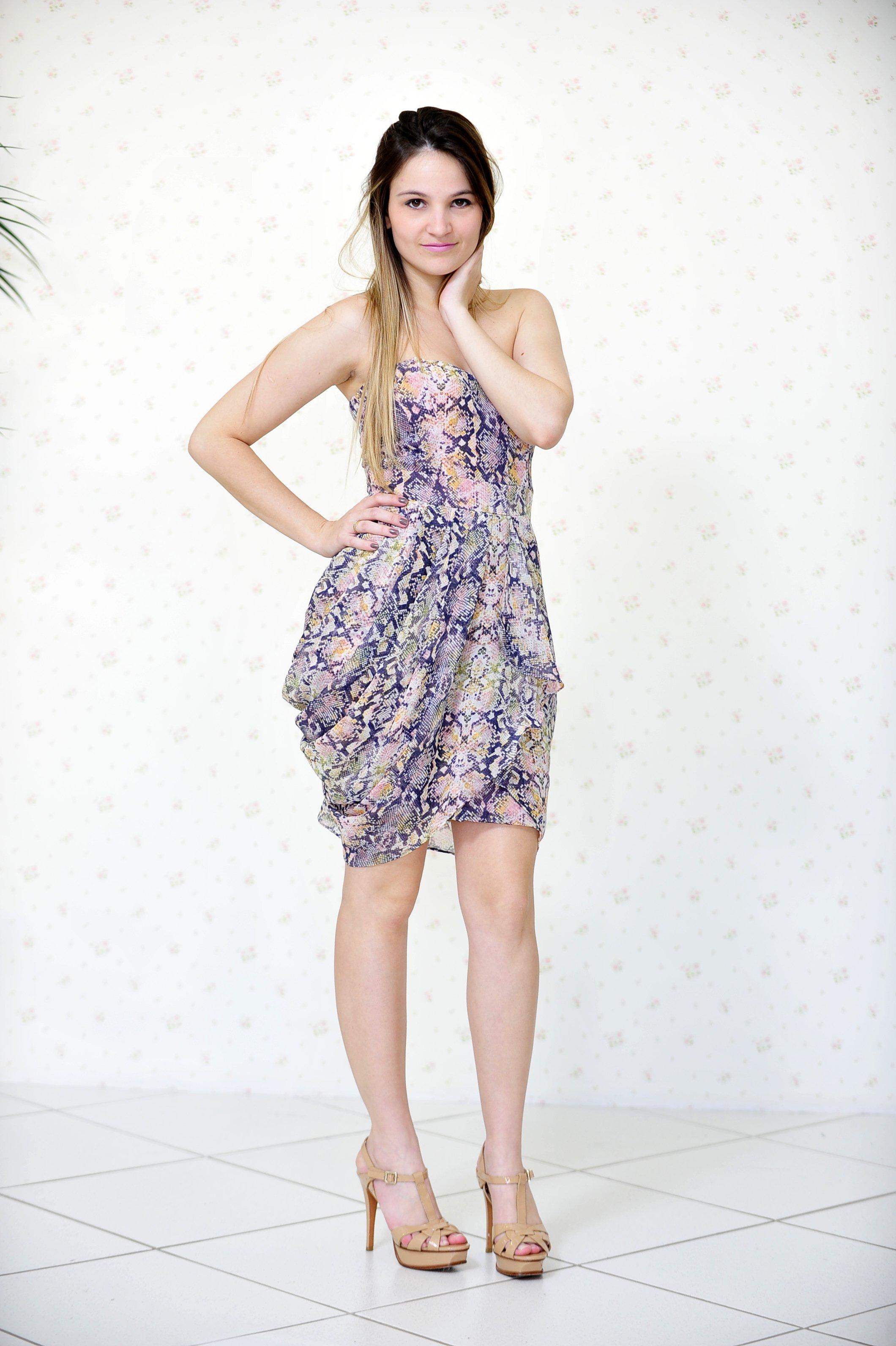 modelos vestidos balone estampa