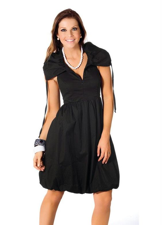 modelos vestidos balone preto