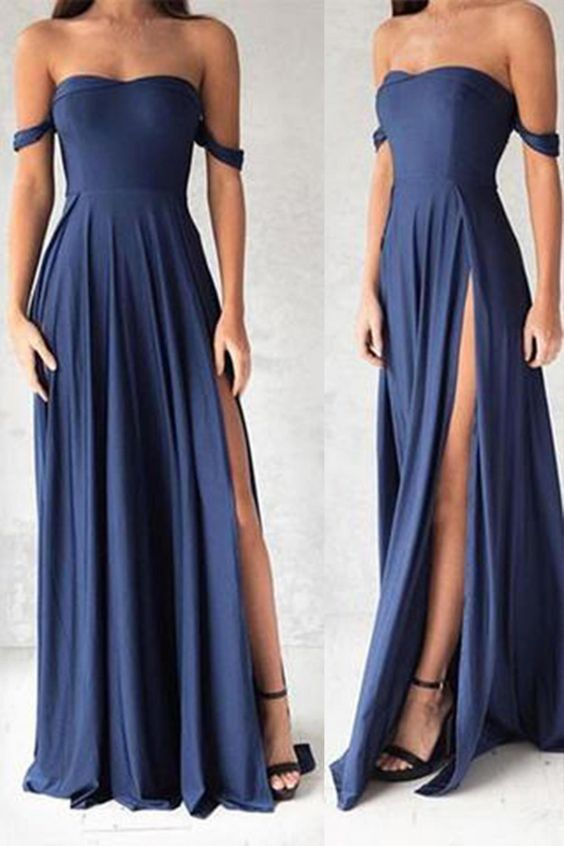 modelos vestidos dama azul 1